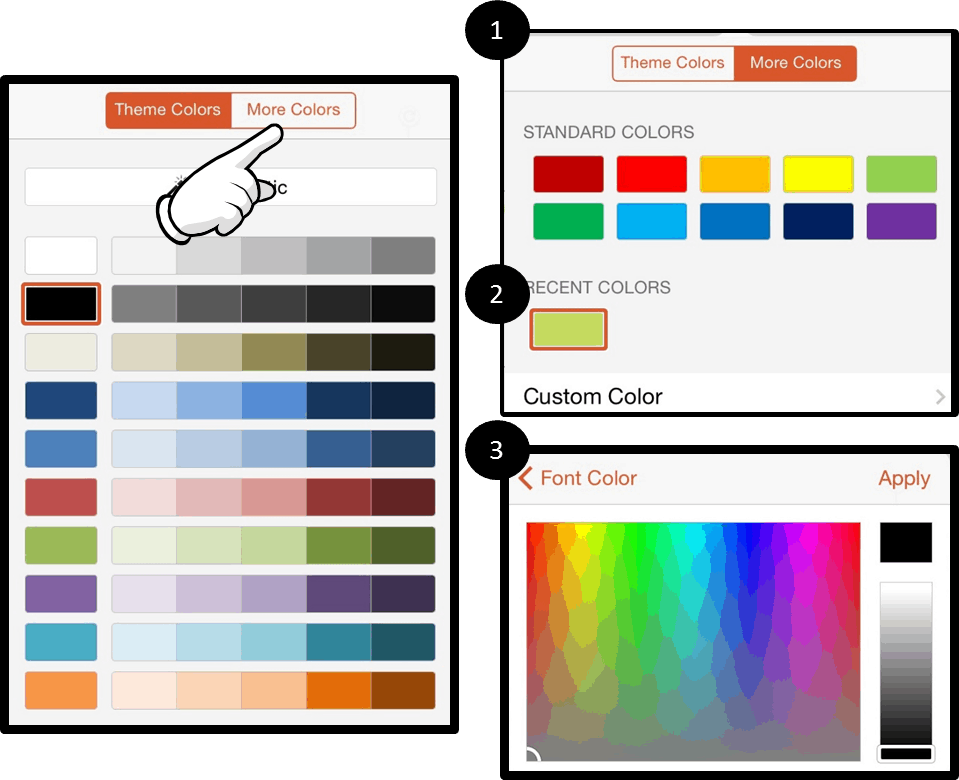 PowerPoint for iPad #6B More Color Options
