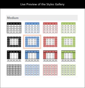 PowerPoint for iPad Table Tab #1 Tables Styles Options All Applied 2