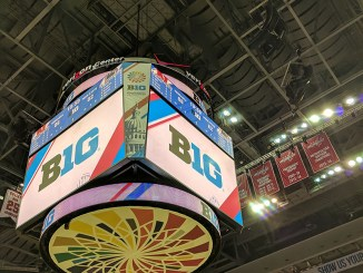 Scoreboard at the Verizon Center