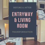 Living Room Entry Makeover Before And After In A