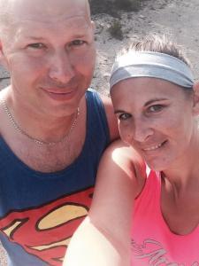 Bridget Carlson aka Nutty Hiker with her husband Jerry