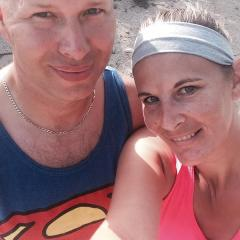 Hiking with hubby
