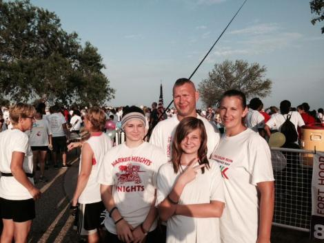 Before the 5k July 4th Color Run on Fort Hood 2014