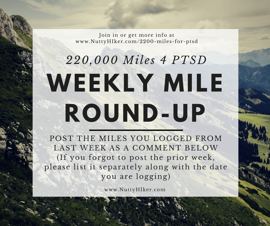 The 220,000 national mile log for those that are racking up miles to support combat-related PTSD and suicide among our military