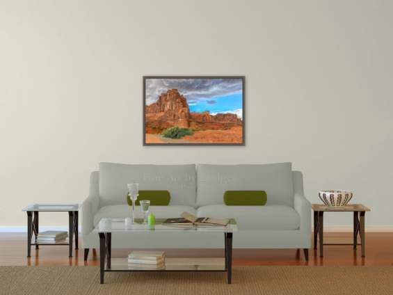 24x36 picture over the sofa