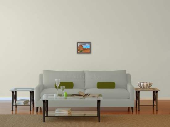 8x10 Picture over the sofa