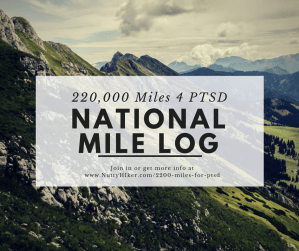 The national 222,000 mile totals log for those that are racking up miles to support combat-related PTSD and suicide among our military