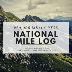 National 220,000 Mile Log for #2200Miles4PTSD
