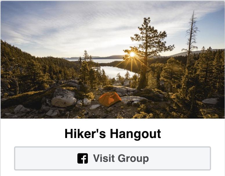 Hikers Hangout Facebook Group