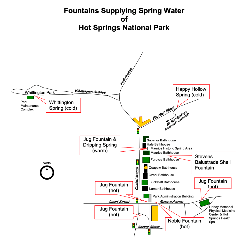 Hot Springs Jug Fountain Locations in Hot Springs Arkansas