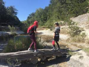Hiking With Teenagers at Chalk Ridge Falls near Belton Texas