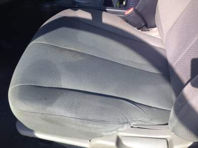 Yucky! My seat is drenched in sweat!
