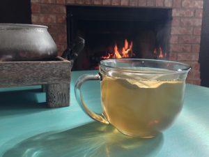 Enjoying my herbal tea