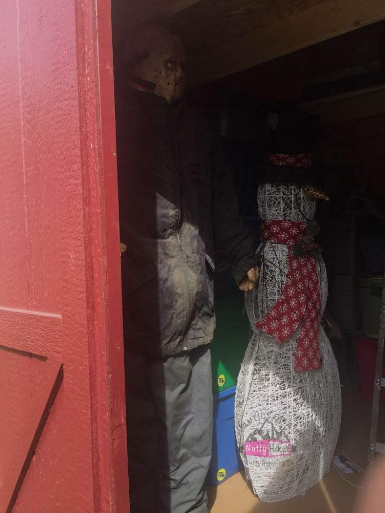 The man hiding in my shed aka Jason Voorhees Prop