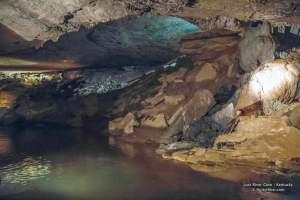 Inside the Lost River Cave in Kentucky.
