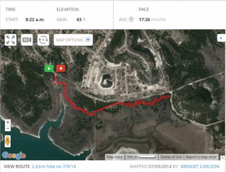 My July 10th 2014 hike at Dana Peak Park
