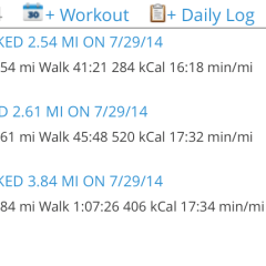 I need to average 8 miles a day!!!