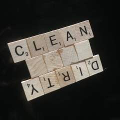 Clean/Dirty Magnet for Dishwasher – Scrabble Tiles