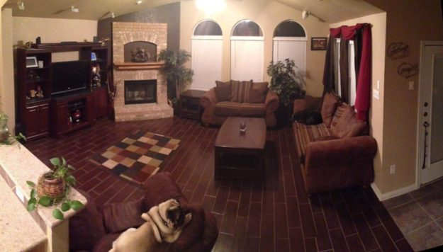 Old layout of family room
