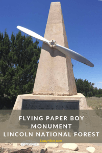 Flying Paper Boy Monument in Lincoln National Forest New Mexico