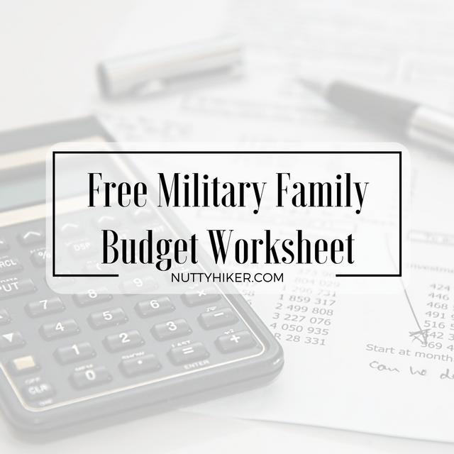 family of 4 budget worksheet