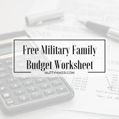 Military Family Budget Worksheet {FREE}