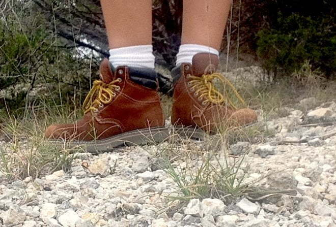 Hiking Boots - Work Boots - Hiking at Dana Peak Park in Texas