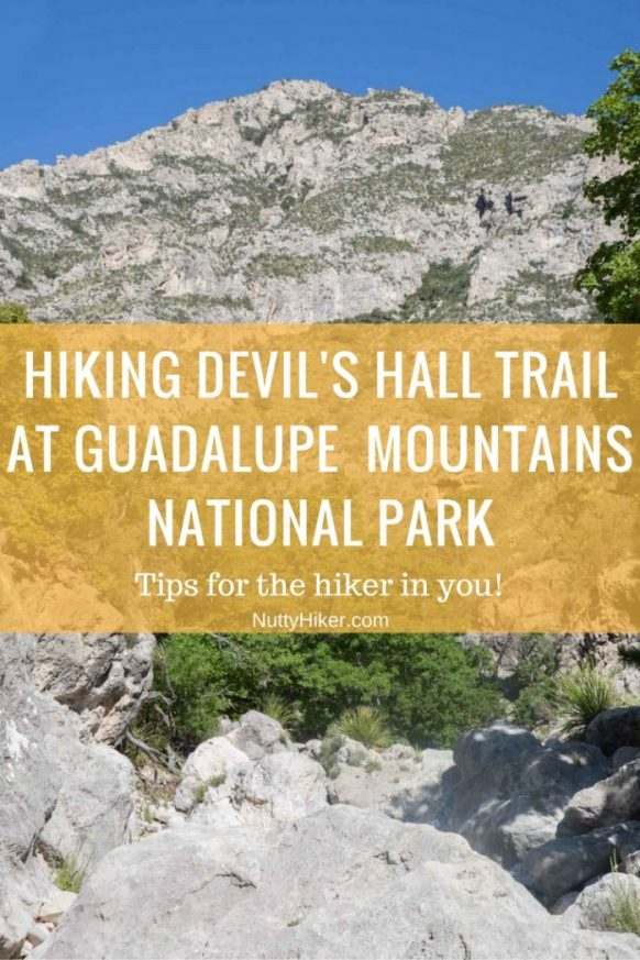 Hiking Devil's Hall Trail at Guadalupe Mountains National Park in Texas. Tips and advice before you start your hike!