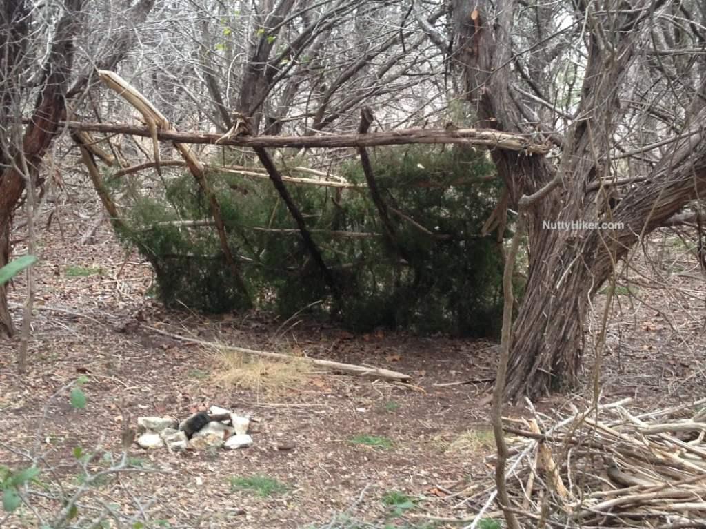 Lean-to found at dana peak park near Fort Hood Texas