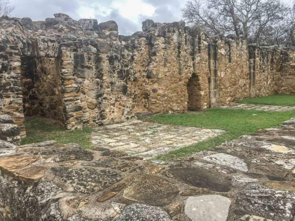 Burial grounds at Mission San Juan in San Antonio Texas