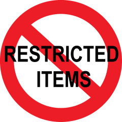 PCS Unauthorized Items