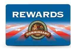 New Commissary Rewards Card, get your's today