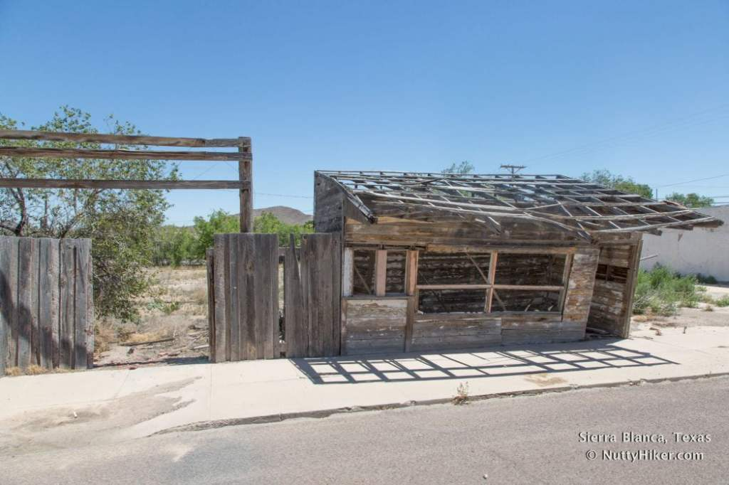 Old building remnants in Sierra Blanca Texas