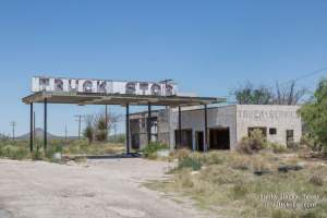 The old and abandoned Sierra Blanca Truck Stop in Sierra Blanca Texas off HWY 80