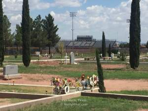 Van Horn Cemetery in Texas. Located next to high school football field!