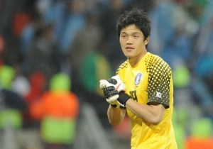 South Korea's goalkeeper Jung Sung-Ryong