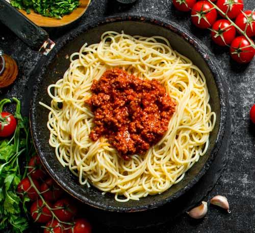 vegansk kødsovs opskrift - vegansk spaghetti med kødsovs
