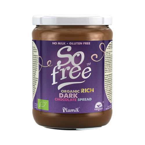 so free nutella - so free dark chocolate spread
