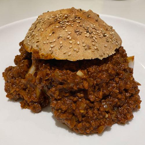 vegansk sloppy joe burger opskrift