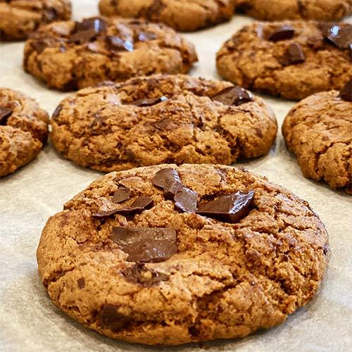 veganske glutenfri cookies - opskrift med tapiokamel og bananmel