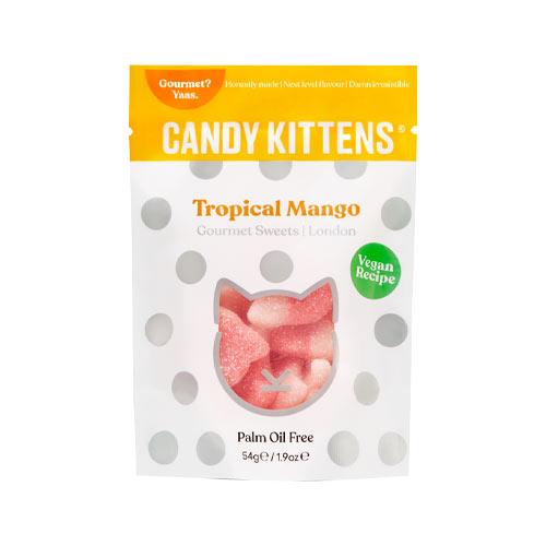 candy kittens tropical mango - vegansk slik - vegansk vingummi