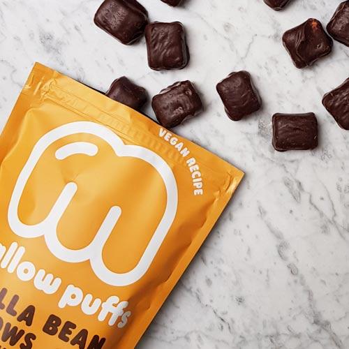 veganske skumfiduser køb - veganske marshmallows - mallow puffs