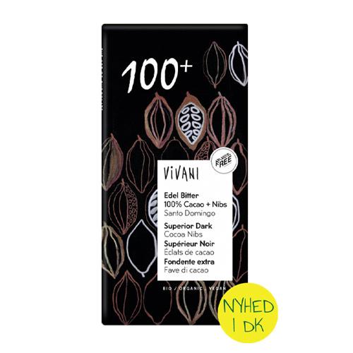 vegansk mørk chokolade køb vivani 100% kakao