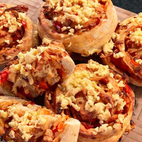 veganske pizzasnegle opskrift med nutty vegan sojastrimler