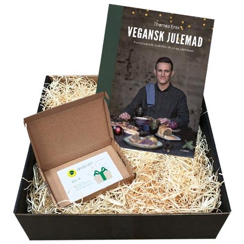 julegave til veganer - vegansk gavekurv med vegansk julekogebog