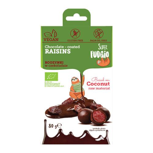 veganske chokoladeovertrukne rosiner - rosiner med vegansk chokolade