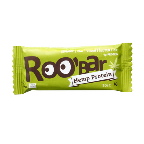vegansk proteinbar - vegansk protein - roobar hemp protein