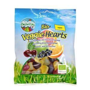 veganske vingummihjerter - ökovital veggie hearts