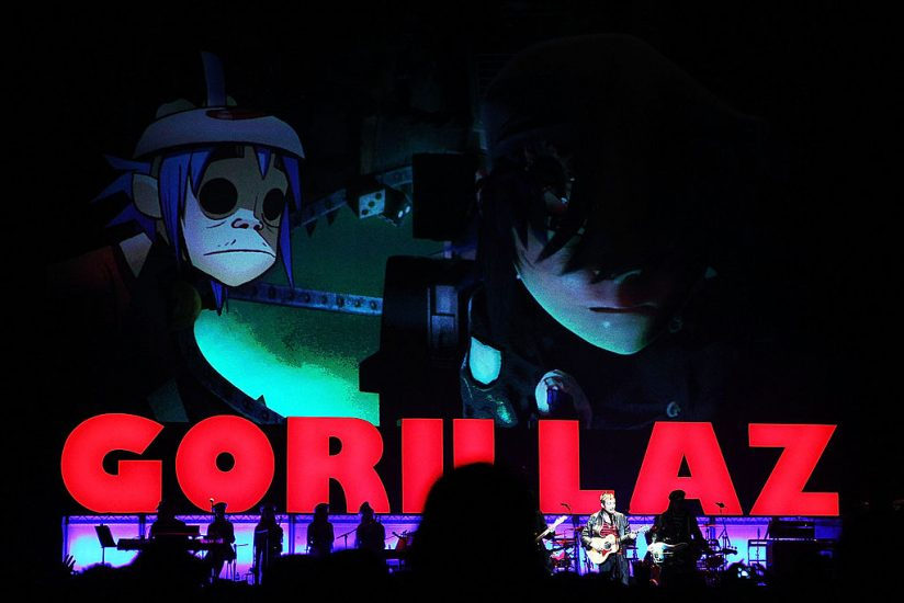 SYDNEY, AUSTRALIA - DECEMBER 16:  Gorillaz perform on stage at the Sydney Entertainment Centre on December 16, 2010 in Sydney, Australia.  (Photo by Mark Metcalfe/Getty Images)