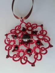 Ciondolo Andalusia rosso e nero